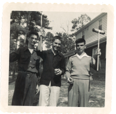 Croquet Course in the back yard of the Walter Schutte home, 6003 West Club Lane….1951. George Dolan; Billy Powers (later head football coach at Douglas Freeman High School); and Ray Wallace, Jr., 5905 S. Crestwood Ave.